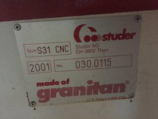 Rettificatrice Studer S 31 universal full +B axis + C axis rebuilt-3