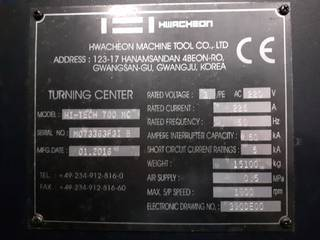 Tornio Hwacheon Hi Tech 700 MC-8