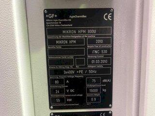 Fresatrice Mikron HPM 800 U-13