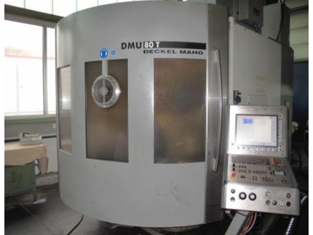 più figure Fresatrice DMG DMU 80 T Turbinenschaufeln/fanblades, A.  2005